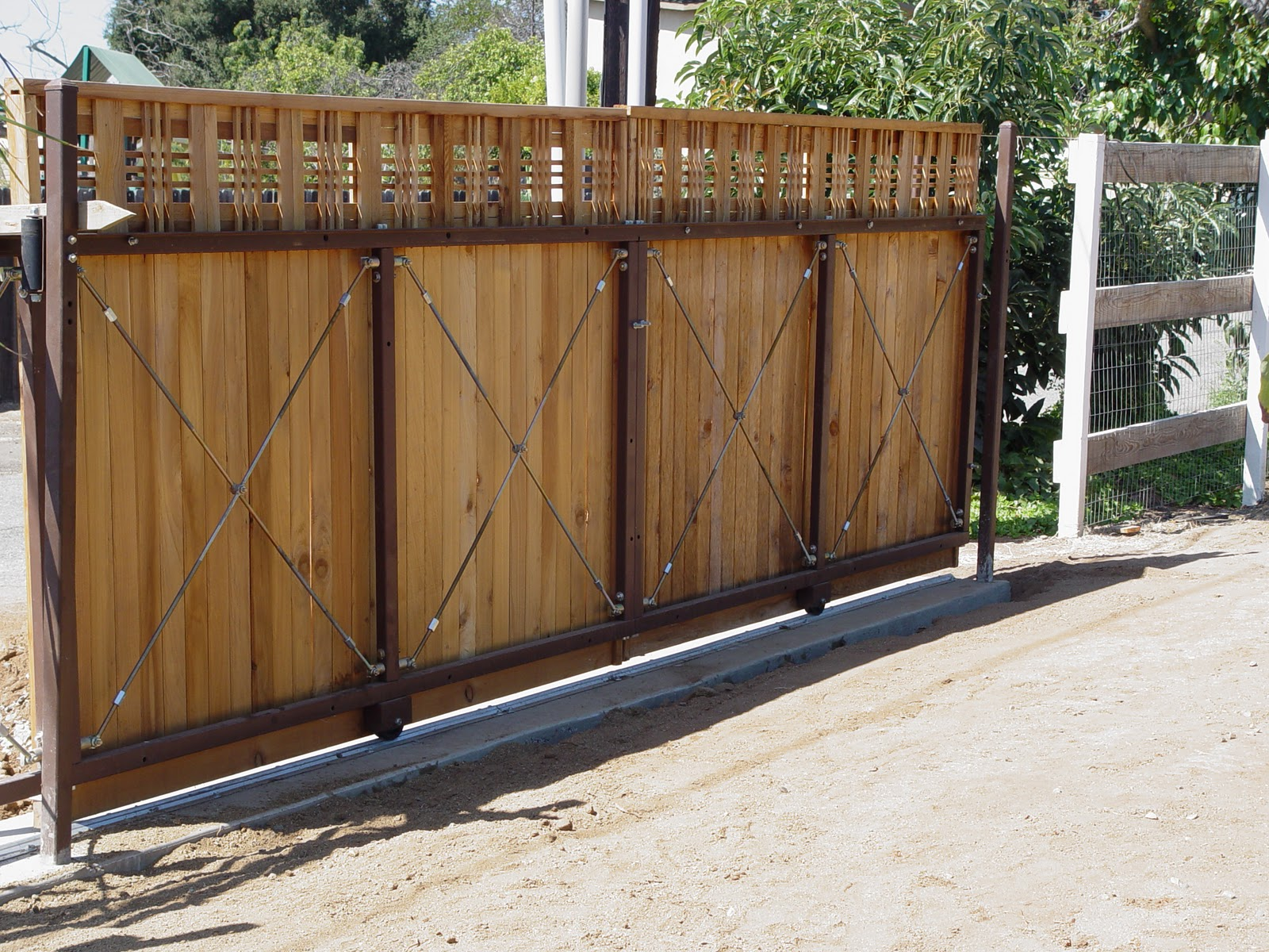Driveway Gate Frame Double Leaf Steel Gate Frame Kits Up