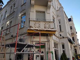 Balkonsanierung Jugendstilfassade Stucksanierung Balkon Masswerk