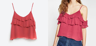 Zara Off the Shoulder Frilled Top. Favourite off the shoulder fashion style