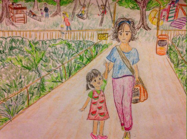 momlife, momdaughter, drawing, mom, sketch, doodle, arts