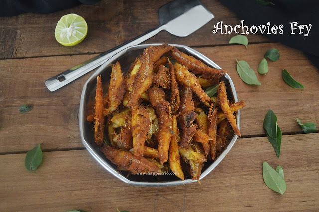 Anchovies Fish Fry Recipe | Neethili Meen Varuval
