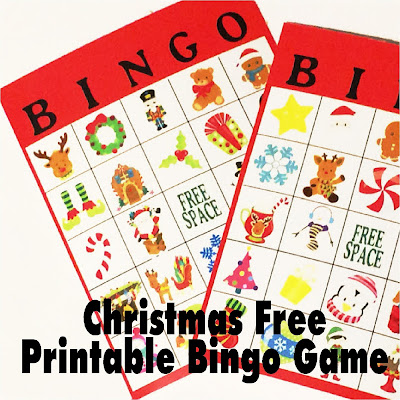 Enjoy a little whimsical fun at your Christmas party with this super cute Christmas bingo game.  This free printable game will have even the toughest party guest wanting to play and having a good time. #christmasparty #bingo #chirstmasbingo #christmasgame #diypartymomblog