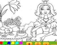 Vamos colorir as princesas?