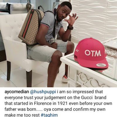 Beef alert : Between AY and Hushpuppi on Instagram