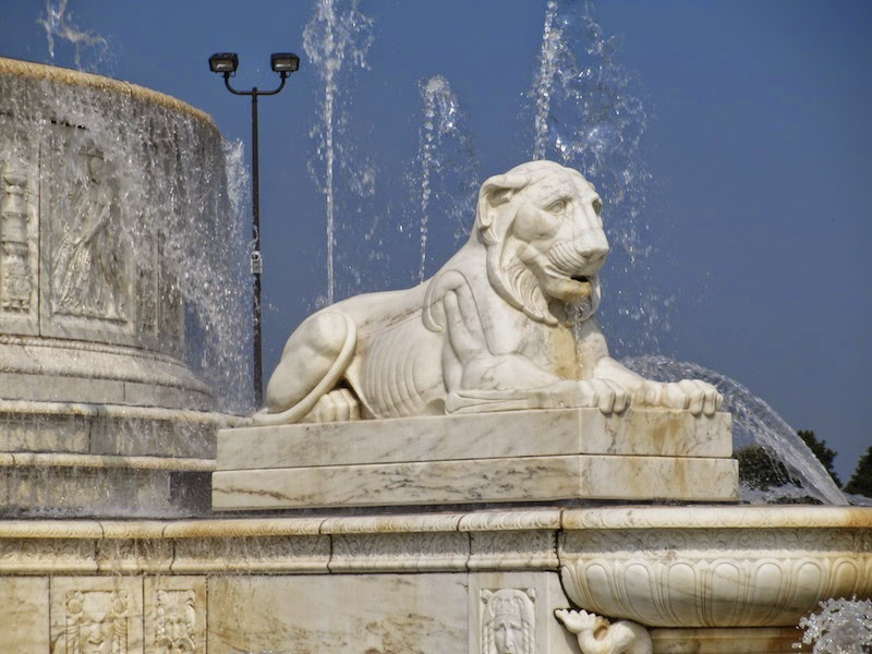 Lion from the Scott Fountain Belle Isle in Detroit
