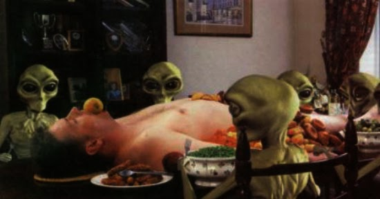 Daily 2 Cents: Severed Heads...and Aliens Eating People -- Grandfather's Missing Time -- Creepy Message Freaks School Kids