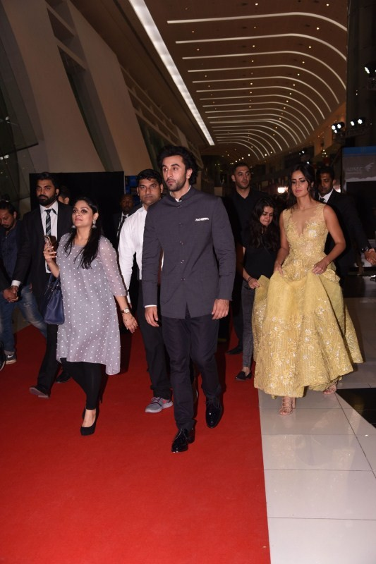 Jagga Jasoos Stars Ranbir Kapoor and Katrina Kaif Spotted at SIIMA 2017