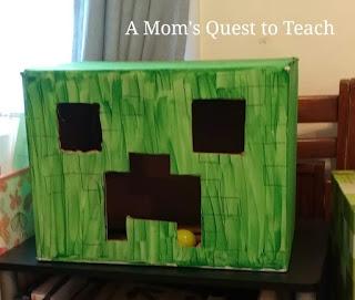 Creeper Cardboard Minecraft Game