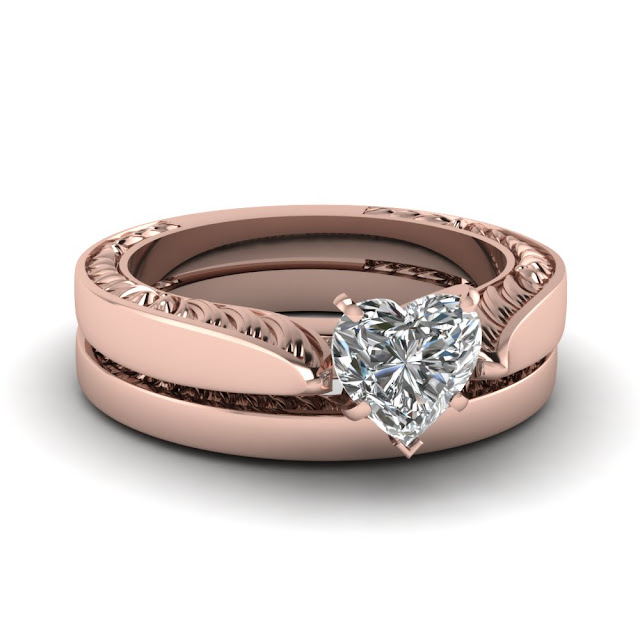 Rose Gold Wedding Ring Sets