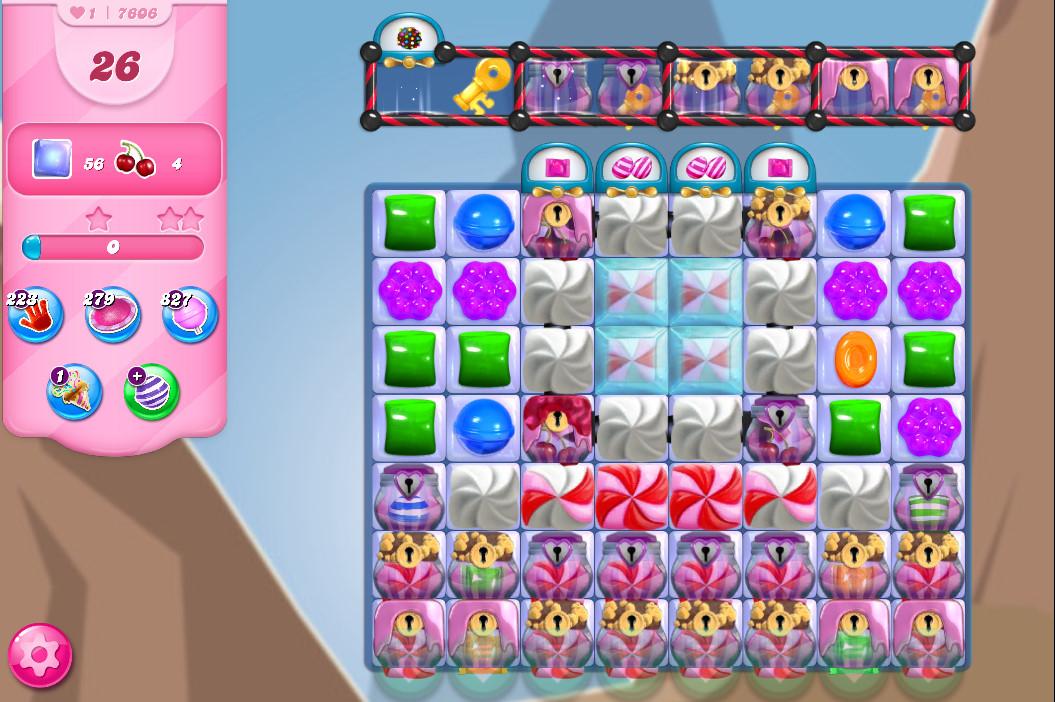 Candy Crush Saga level 7606