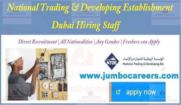 Fresher Jobs in Dubai NTDE National Trading & Developing