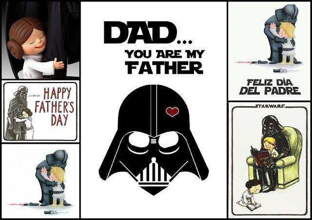 Tarjetas de Darth Vader para el Día del Padre.