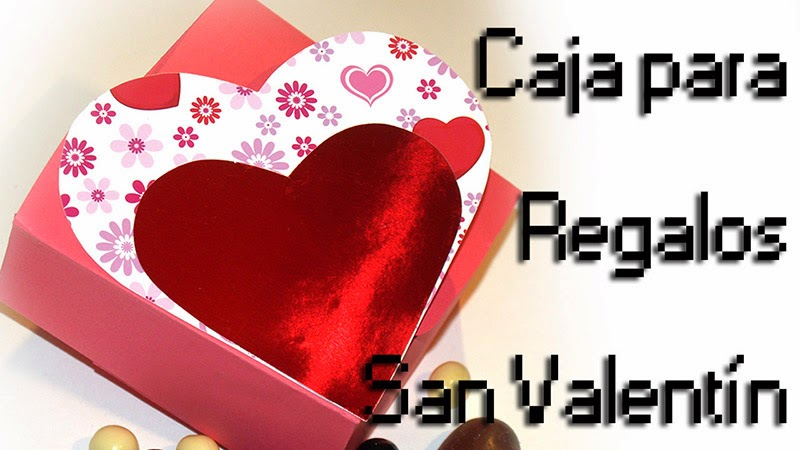 cajita corazón para san valentin