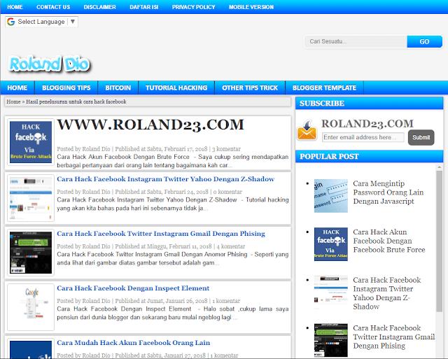 Cara Hack Pencarian / Search Website Blog