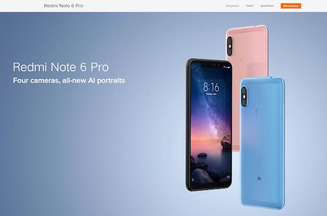 Xiaomi Redmi Note 6 Pro (www.mi.co.id)