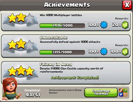 Menyelesaikan Achievements COC