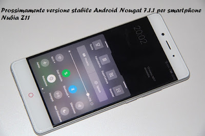 Versione stabile Nougat smartphone Nubia Z11