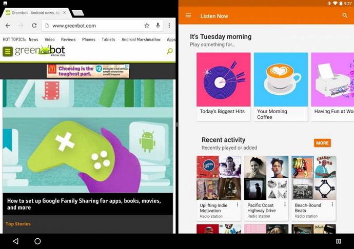 Multi window Android N