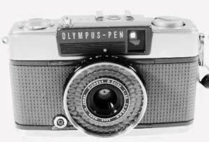 Olympus Pen EE-2 tampak depan