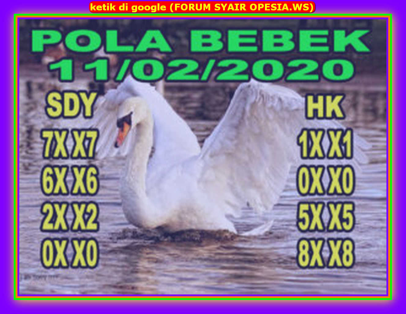 Kode syair Hongkong Selasa 11 Februari 2020 80