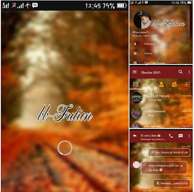 BBM Mod Fution Autumn Theme v3.1.0.13 Apk