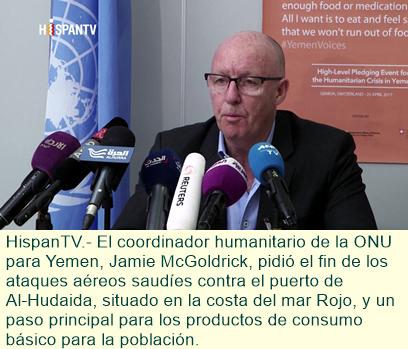 La ONU insta a cesar ataques saudíes contra Yemen