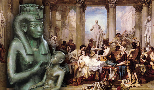 semiramis y nimrod en la fiesta pagana romana de la saturnalia