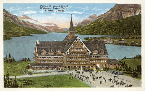 Prince of Wales Hotel Waterton Alberta Archival