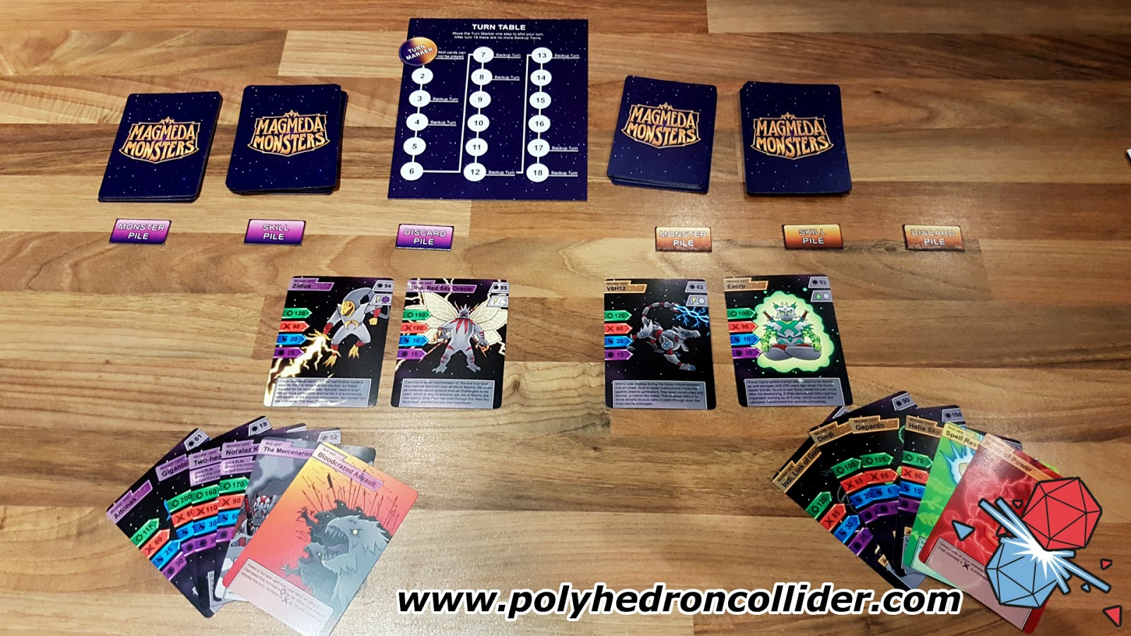 Magmeda Monsters kickstarter review game set up