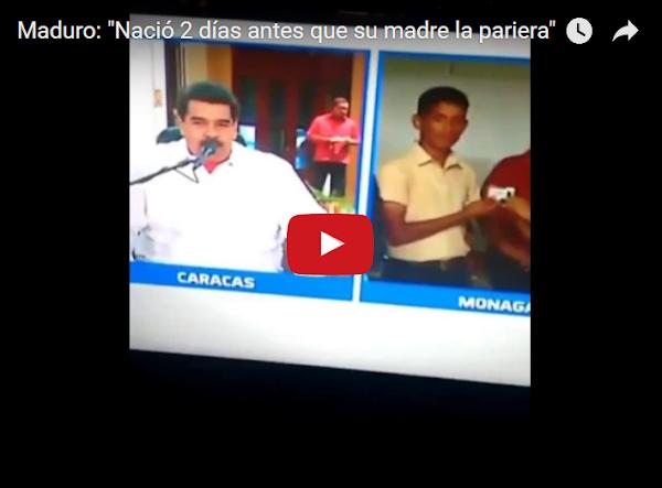 Maduro nació dos días antes de que su madre lo pariera