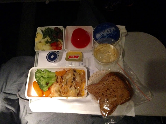 gluten-free dinner from Singapore to Frankfurt with Singapore Airlines Premium Economy