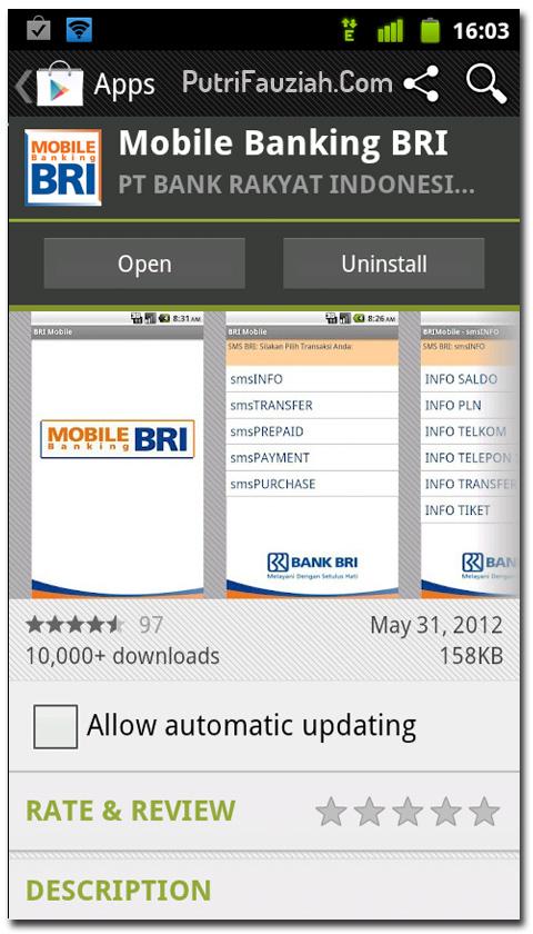 Download Aplikasi BRI Internet Banking untuk Android di
