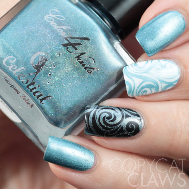 Color4Nails + Celestial Cosmetics Holographic Stamping Polish - Azure