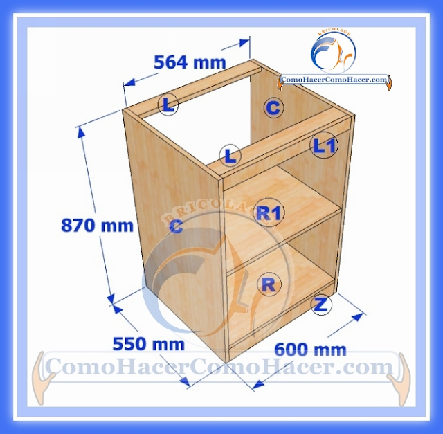 Muebles de cocina construcci n web del bricolaje dise o diy for Armado de gabinetes de cocina