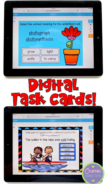 Interactive digital task cards! Find out about this unique and innovative way to facilitate task card use in your classroom!