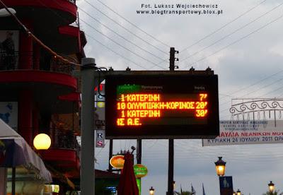 Elektroniczna tablica informacyjna w centrum Paralii