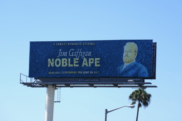 Jim Gaffigan Noble Ape comedy special billboard