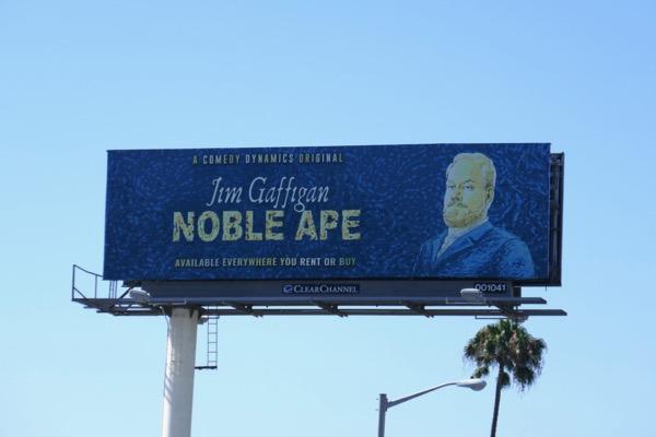 Jim Gaffigan Noble Ape comedy special billboard