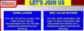 Butuh Admin License dan MRO di Kantor Alfamart Makassar