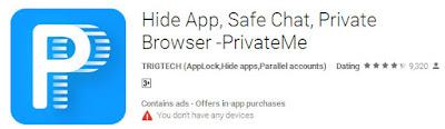 Menyembunyikan aplikasi di xiaomid engan private me tanpa root