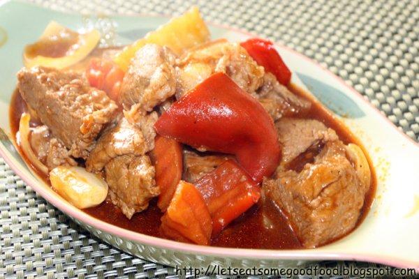 Pork+Afritada - Pork Afritada Recipe