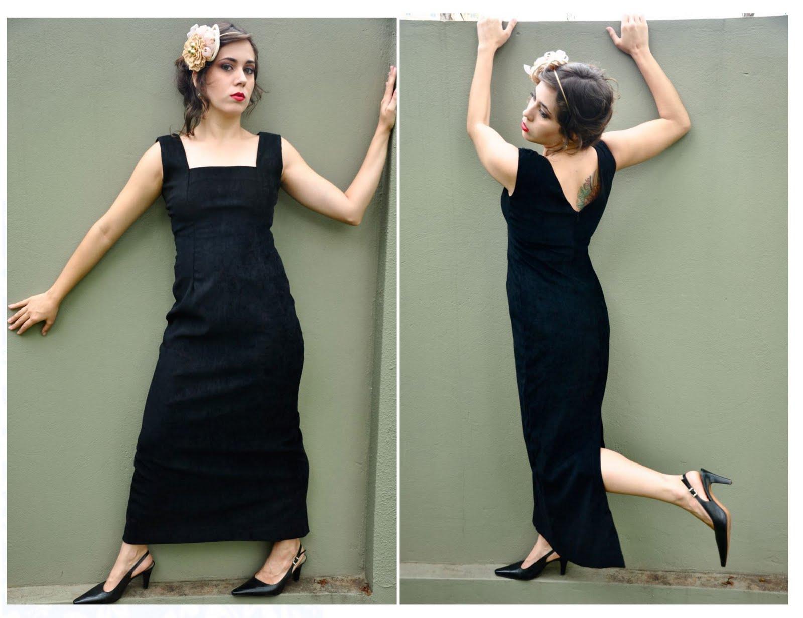 95115c80b73 Bonequinha de luxo. vestido preto longo   35