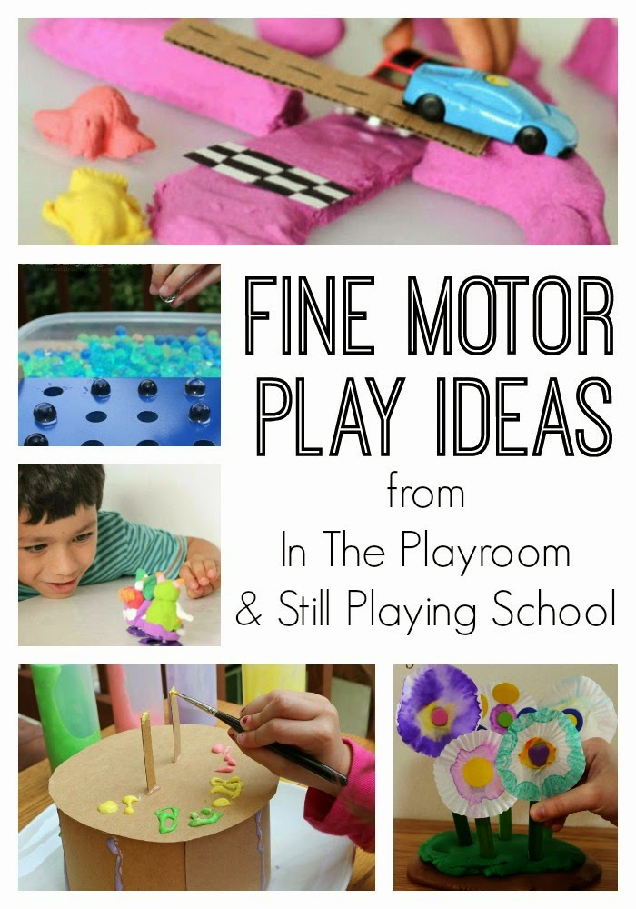 10 fun fine motor play ideas from In The Playroom and Still Playing School