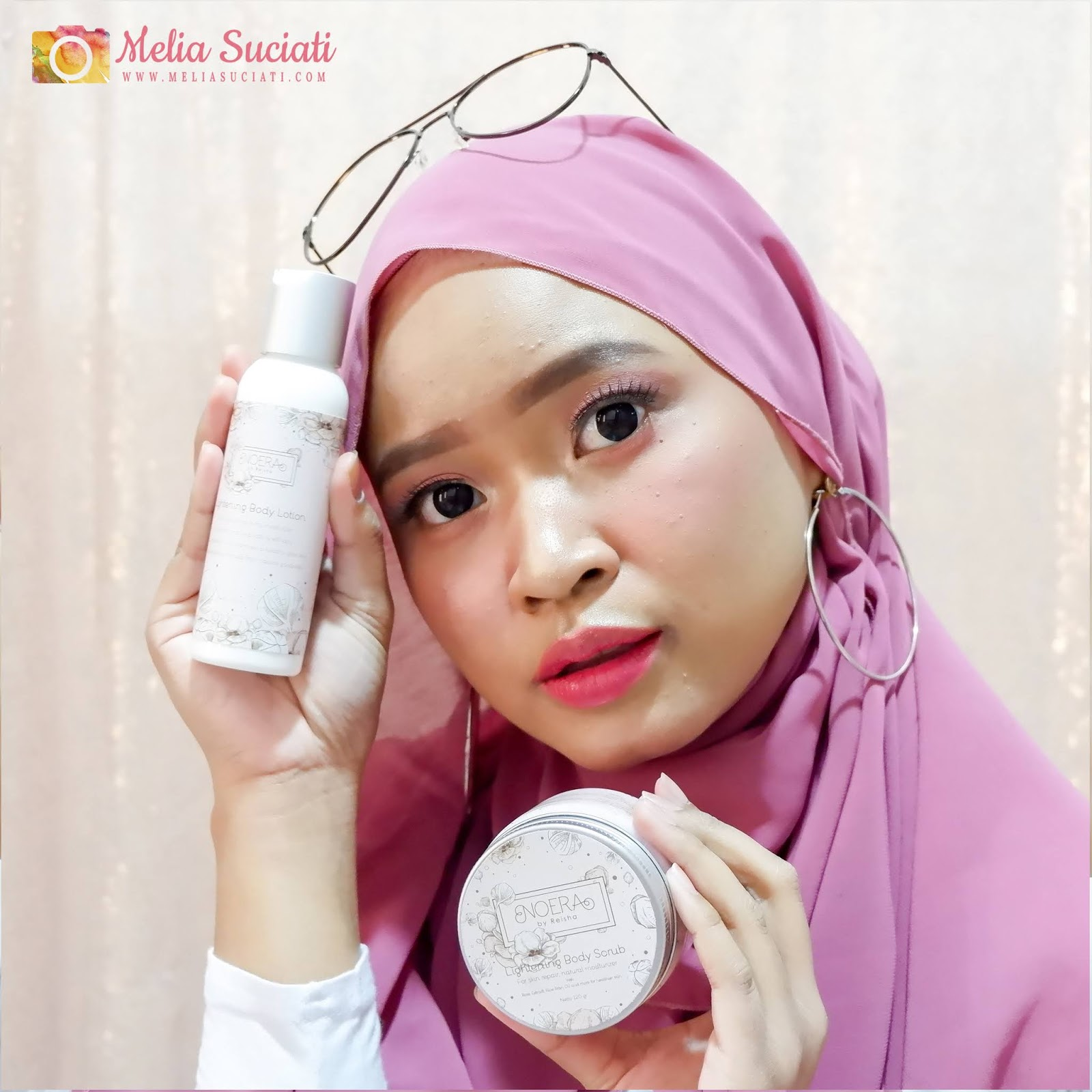 REVIEW NOERA LIGHTENING BODY SCRUB DAN LIGHTENING BODY LOTION