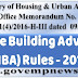House Building Advance Rules (HBA) - 2017