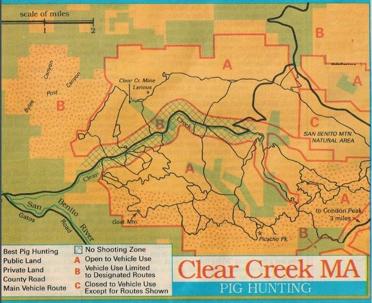 how to hunt clear creek management area
