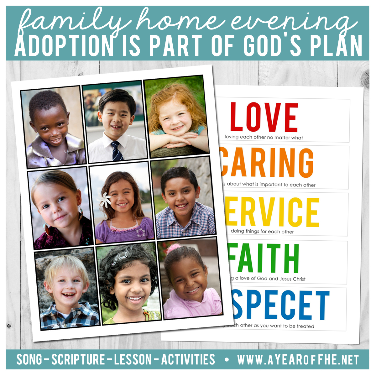 Lds Quotes On Family Home Evening: A Year Of FHE: Year 03 / Lesson 33: Adoption Is Part Of