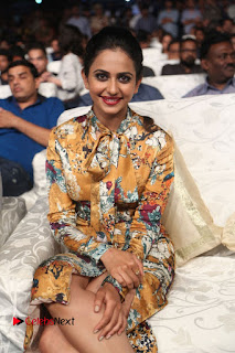 Actress Rakul Preet Singh Stills in Short Dress at Dhruva Pre Release Function  0038.JPG