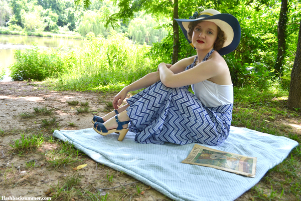 Flashback Summer: Linden Lady Brijee Pattern - 1930s Palazzo Pants