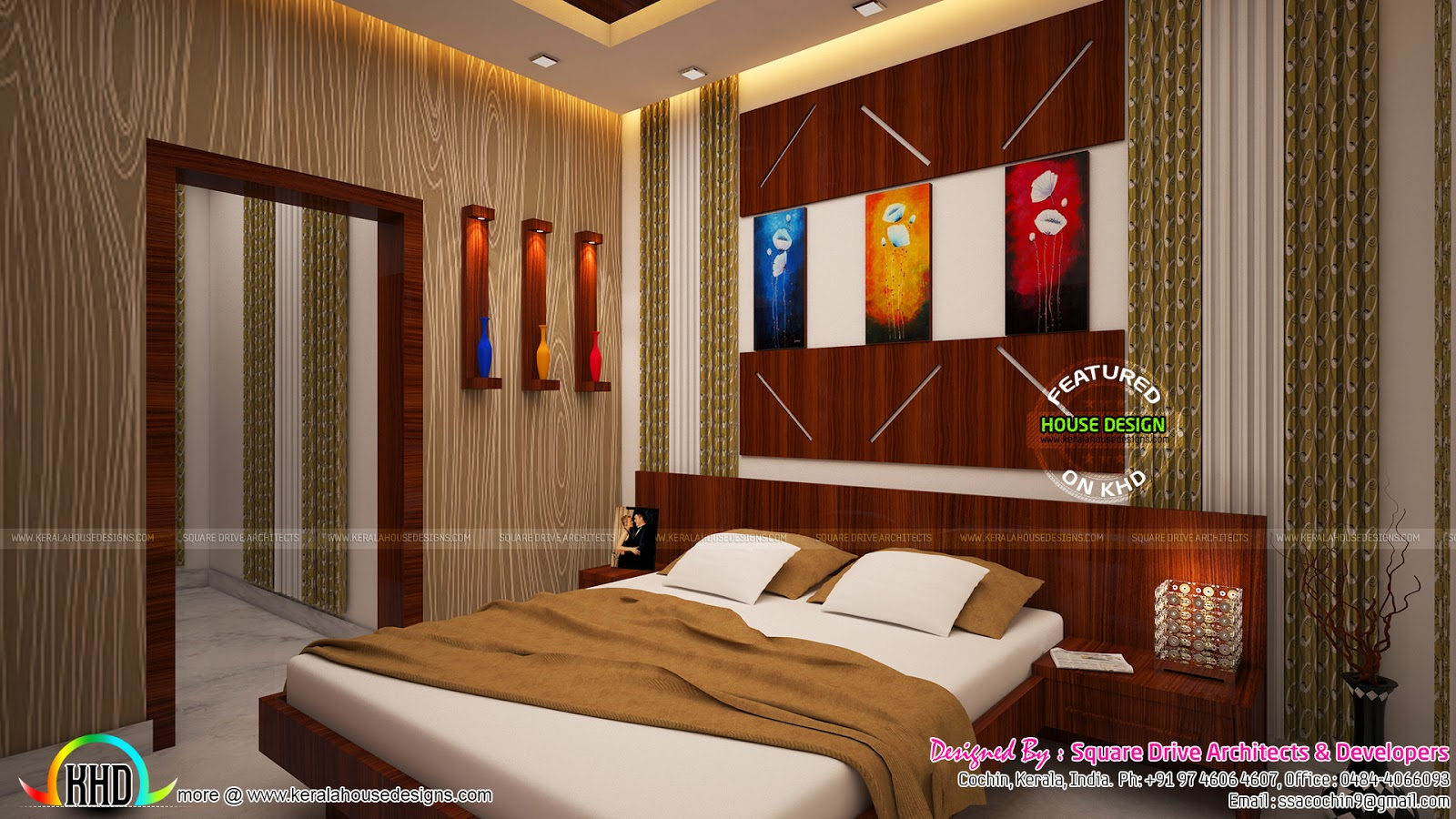 2 bedroom interior designs kerala home design and floor plans. Black Bedroom Furniture Sets. Home Design Ideas